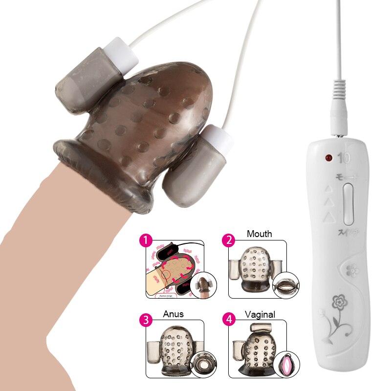 Glans Vibrator 10 Speed Male Masturbator Penis Exercise Enlargement Trainer Penis Massager Sex Products Erotic Sex Toys For Men