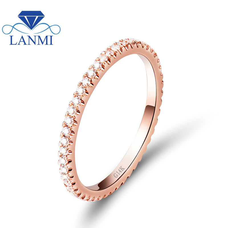 Real Diamond Women Wedding Ring In Solid 14Kt Rose Gold Wedding Ring,Cheap Gold Ring For Sale R0014 new vintage 14kt rose gold diamond kunzite ring wedding ring oval 10x17mm r00324