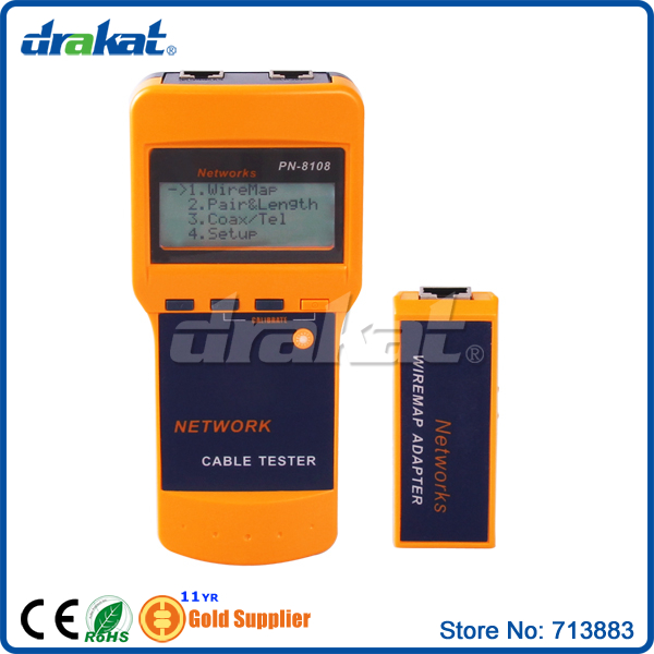 High quality STP UTP RJ45 Network Lan Cable Tester LCD digital twisted wire meter test cat5 rj45 stp utp lan phone coaxial network cable tester