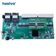 הפוך PoE 8x10/100/1000M RJ45 Gigabit Ethernet מתג Ethernet סיבים אופטי מצב יחיד 2 SC סיבי נמל לוח