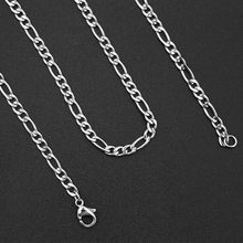 2pcs 55cm stainless steel jewelry women fashion lobster clasp chain finished men's necklace accessories Jewelry making