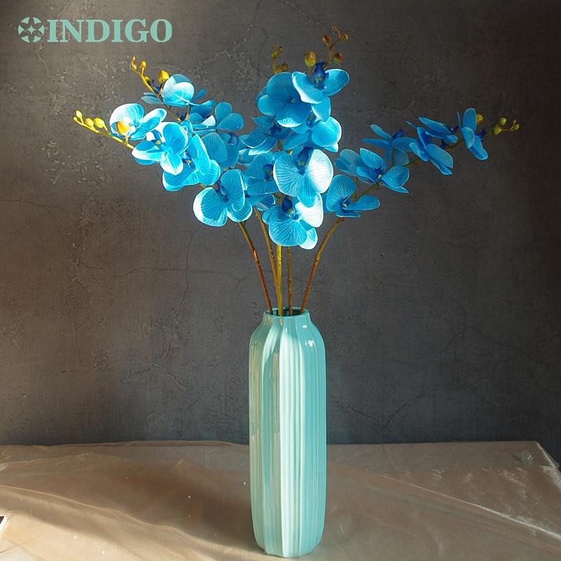 Phalaenopsis Orchid Silk Real Touch Blomma Vit Konstgjord Blomma - Semester och fester - Foto 6