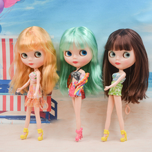 Factory Blyth Doll BJD, Neo Blyth Doll Nude Customized Shiny Face Dolls Can Changed Makeup and Dress DIY, 1/6 Ball Jointed Dolls toy gift free shipping 30cm doll 1 6 nude factory blyth doll 230bl1319 mint straight hair white skin joint body neo