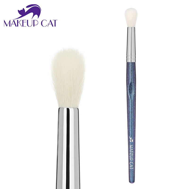 Makeup Cat Lady Tapered Blending Brush Defined Crease Brush High Light Eye Shadow Brushes Nose Brush Salon Makeup Artist XK16 ...