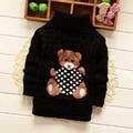 Autumn/winter New 2016 Children's Wear Pure Cotton Cartoon Children's Sweaters for Baby Girls Clothes Turtleneck Sweater CA010