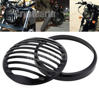 Motorcycle Accessorie 5 3 4 Aluminum Black Grill Cover For Harley 5 75 Headlight Head Light