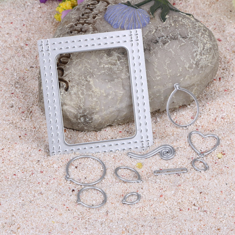 2017 Frame Cutting Dies Balloon Metal Scrapbooking Album Card Photo Decoration Embossing Dies Set DIY Paper Crafts
