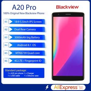 Image 2 - BLACKVIEW A20 Pro smartphone Android 8.1 MTK6739 czterordzeniowy 5.5 18:9 HD + 2GB + 16GB podwójna kamera tylna odcisk palca 4G telefon komórkowy