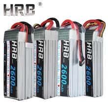 Аккумулятор hrb lipo 2600mAh T Dean 2S 3S 7,4 V 35C XT60 вилка 11,1 V 14,8 V 18,5 V 22,2 V для квадрокоптера Вертолет игрушка RC запчасти 4S 5S 6S