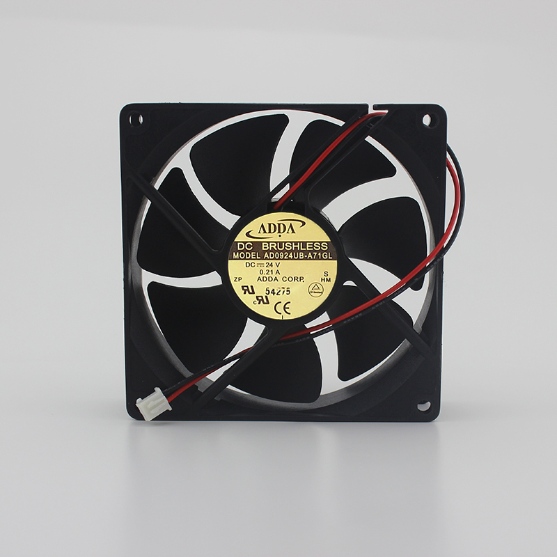 Original AD0924UB-A71GL 24V 0.21A 9CM 9025 2-wire inverter fan