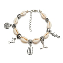 Fashion Shell Fish Summer Beach Anklet Bohemian Jewelry Ankle Bracelet For Women Foot Barefoot