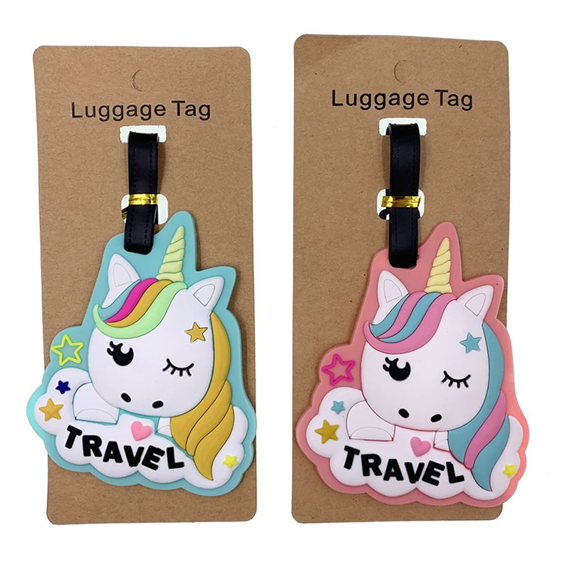 Travel Accessories Cute Animal Prints Unicorn Silica Gel Luggage Tags Suitcase ID Addres Holder Baggage Boarding Portable Label