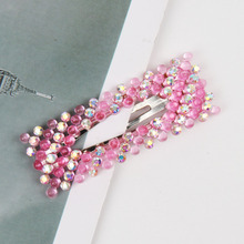 AHB 1 Pc Women Elegant Crystal Pearls Hair Clips Sweet Headwear BB Hairpins Barrettes Headband Ins Fashion Accessories