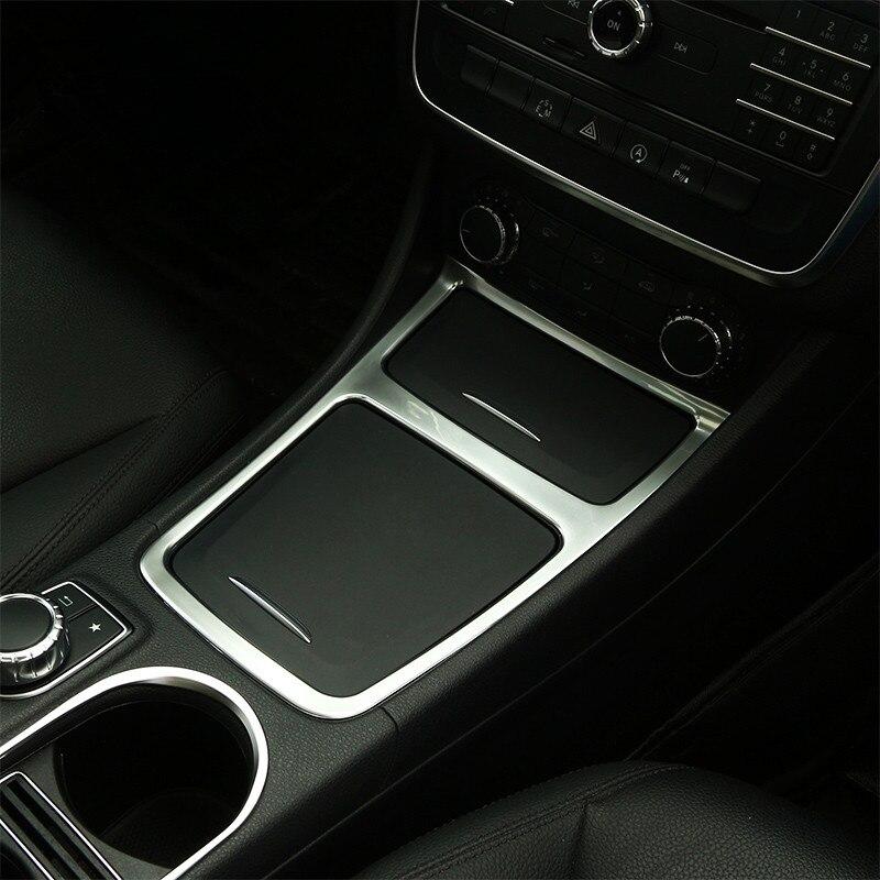Chrome ABS Center Control Storage Box Frame Decoration Cover Trim For Mercedes Benz GLA X156 CLA