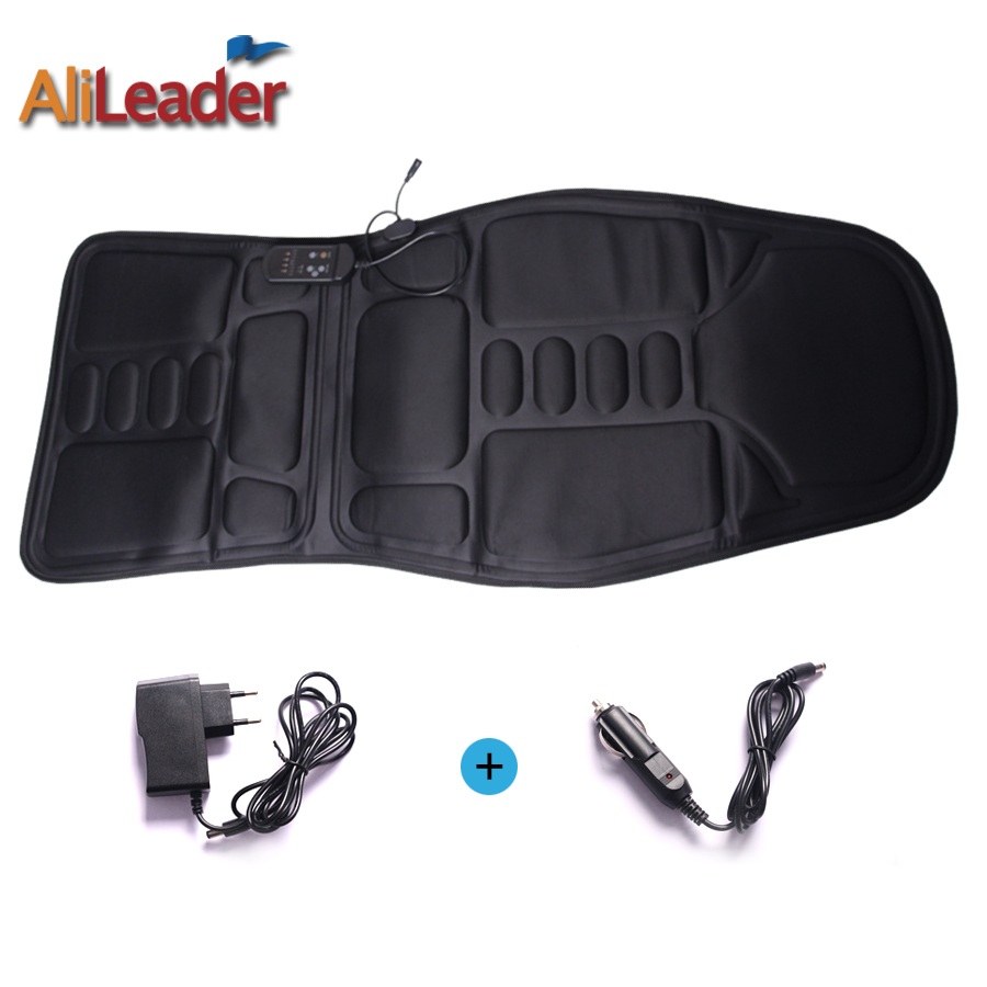 AliLeader Car Home Office Full-Body Massage Cushion Back Neck Leg Massage Chair Massage Relaxation Car Seat Heat Vibrate Cushion massage chair cushion for neck shoulder back waist with far infrared heating and vibration massage heat seat for home car office
