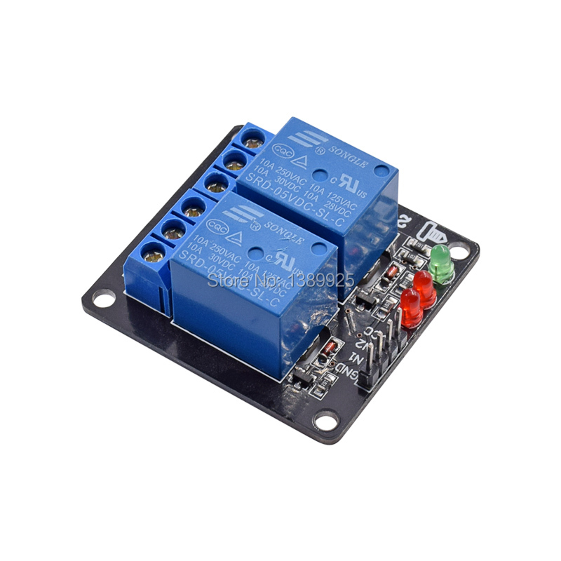 DC 5V Indicator Light LED Two 2 Channel Relay Module