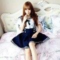Uniforme japón School Cosplay Anime Maid Falda Uniforme de Marinero Vestido Lolita Japón Chica Británica Estilo Marinero Cosplay