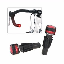 Taiwan Q-LITE MTB Bar End Light Ergonomics 2 Mode Steady Flash Road Bike Bar End Light Super Light Bicycle Handlebar Rear Light