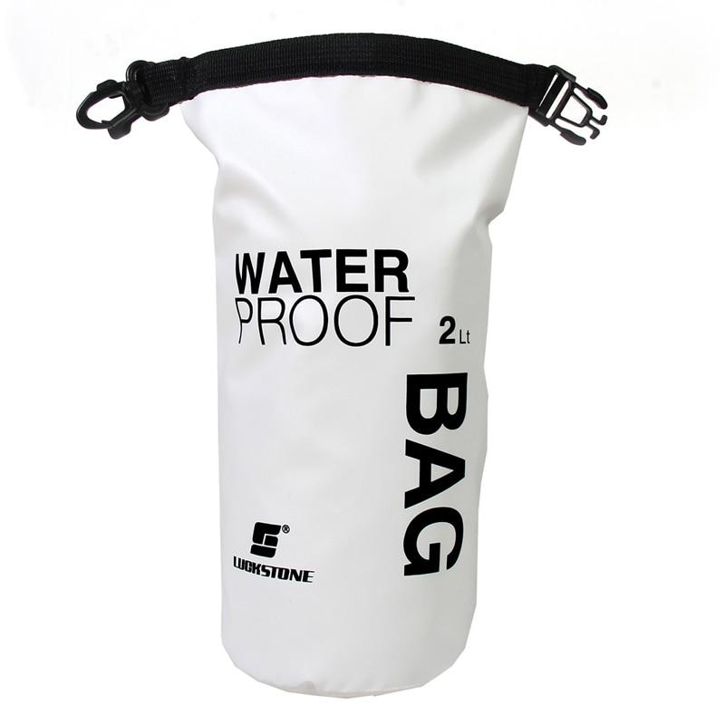 2L Waterproof Dry Bag White Floating Boating Kayaking Camping Sport Backpack Outdoor Water Sports Practical Bags