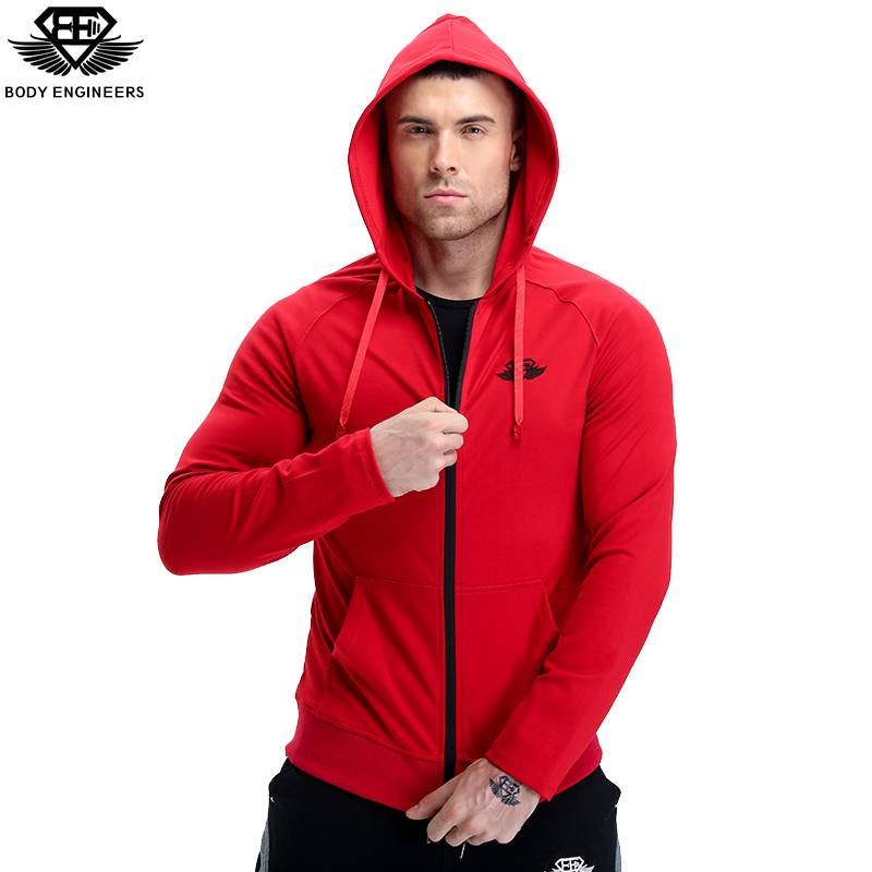 body engineers 2017 Men s Autumn winter breathable zipper Loose coat Men fashion gyms casual hoodies