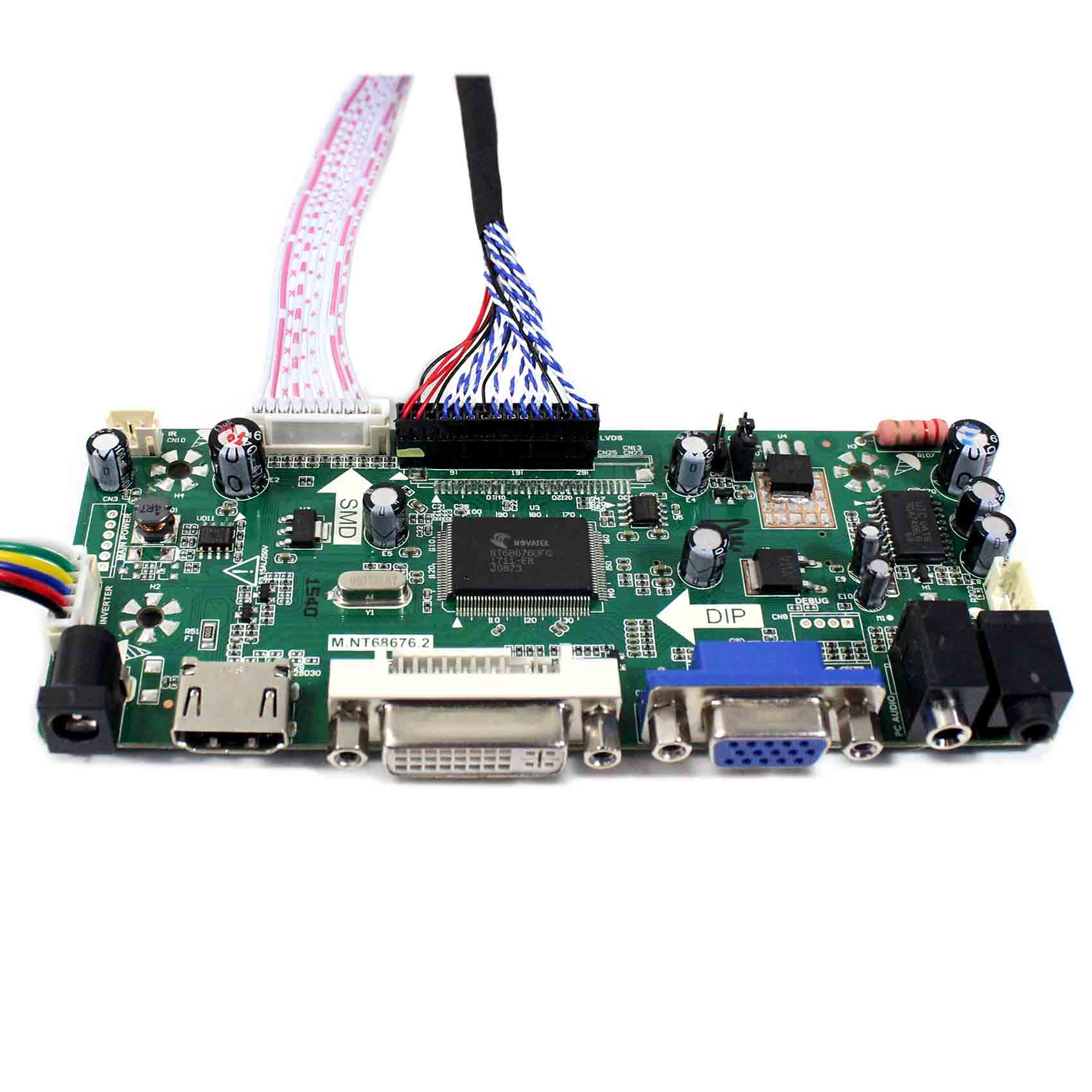 NT68676 HDMI+DVI+VGA LCD Driver Board Kit Accessory for 1920X1080 LTM230HT10