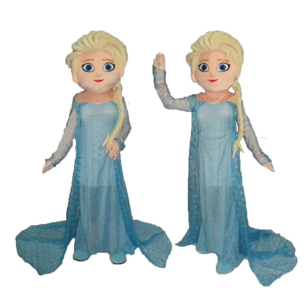 c38a0144af hot Princess Pfreeze Elsa mascot costume sale Unisex worsted cosplay costume