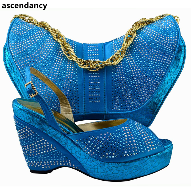 Italienischen Gold Schuh water rot Und Set Für Tasche Mit gold Frauen Verziert Strass Italienische Blau Afrikanische Green Hochzeit Damen Neueste Farbe OR1nxUOd