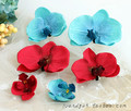 new Free Shipping 5pcs/lot Hair Accessories Headwear hair accessories Hair Clips Girls Simulation butterfly flower