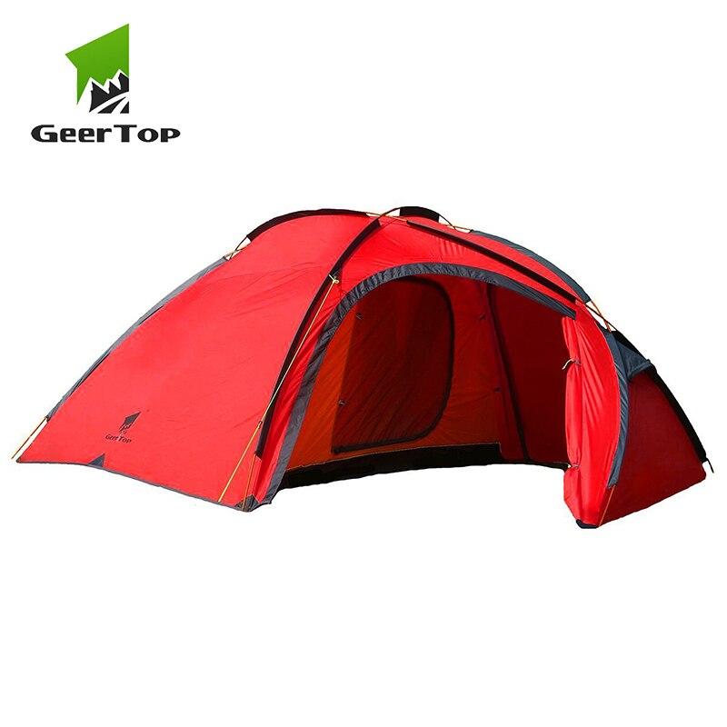 GEERTOP 4 Personne 3 Sseason Tente couche double Poteaux En Aluminium Étanche Extérieure de Famille tente de camping Escalade Tourisme Randonnée