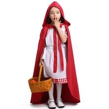 Красный костюм с капюшоном для девочек на Хэллоуин карнавал