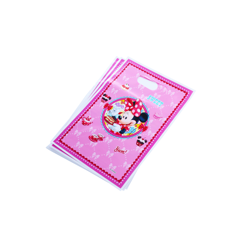 12pcs/lot Gift bag Loot bag Minnie Mouse Kids Birthday party supply event party supplies party Decoration Set candy bag