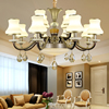 European Style Chandelier Retro Imitation Copper Zinc Alloy Classic Living Room Lights Restaurant Modern Led Crystal