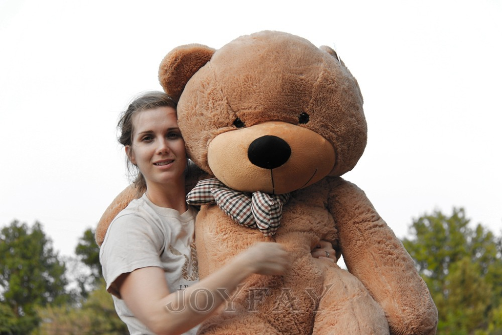 Joyfay 63'' 160cm 1.6m Light Brown Giant Teddy Bear Huge Stuffed Plush Animal Big Soft Toy Birthday Valentine Anniversary gift футболка toy machine leopard brown