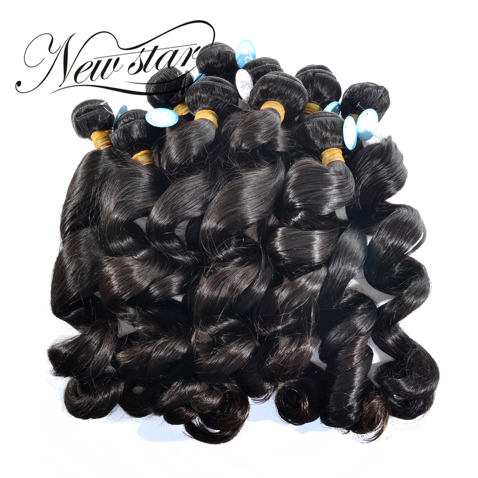NEW STAR Wholesale 10 Pieces Loose Wave 10 34 Brazilian Salon Supply Virgin Human Hair Extension Cuticle Aligned Weave Bundles