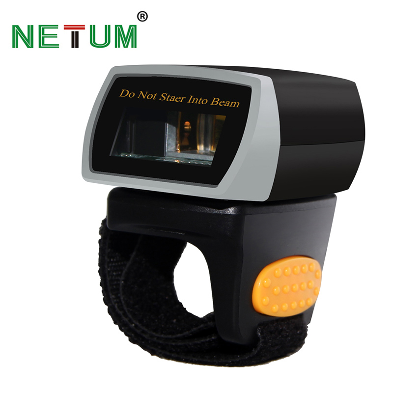 NT-R1 Portable Wearable 1D Bluetooth Ring Barcode Scanner Scanning  Laser Code Bar Code Reader NETUM caribe pl 40l ip65 rugged industrial mobile bluetooth pda 1d barcode scanner android 5 1