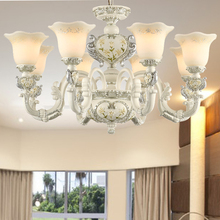 Luxury Europe Resin Chandelier Lighting Living Room Lamp E27 Socket Well Package lustres para quarto