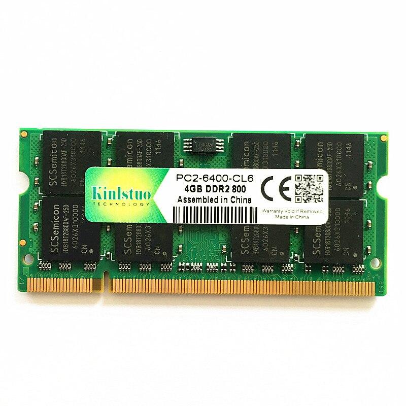 Kinlstuo Marque mémoire béliers ddr2 4 gb 800 mhz pc2-6400 so-dimm ordinateur portable ram ddr2 4 gb 667 pc2-5300 sodimm notebook 4 gb ddr2 mémoire