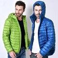 2016 queda e roupas de inverno dos homens novos de grande porte dos homens ultra-fina para baixo curto parágrafo jaqueta de Moletom Com Capuz marca roupas WZ225