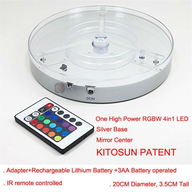 ФОТО 1piece/Lot Centerpiece Lighting 20CM Battery Multicolors LED Under Vase LED Light Base Coaster Stand W/Remote