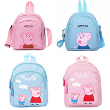Peppa Pig George Cartoon Plush Backpack Toys Dolls Kids Girls Boys Kawaii Kindergarten Bag Wallet Money Phone Bag School Bag цена 2017