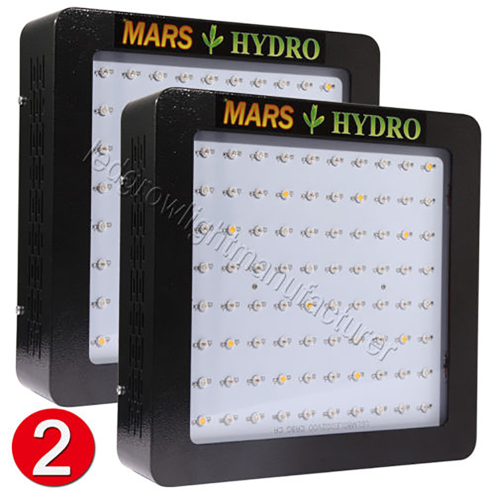2PCS Mars Hydro Mars II 400W LED Grow Light ,Full Spectrum led grow lights Hydro Indoor Plants Veg Flower tyr hydro light