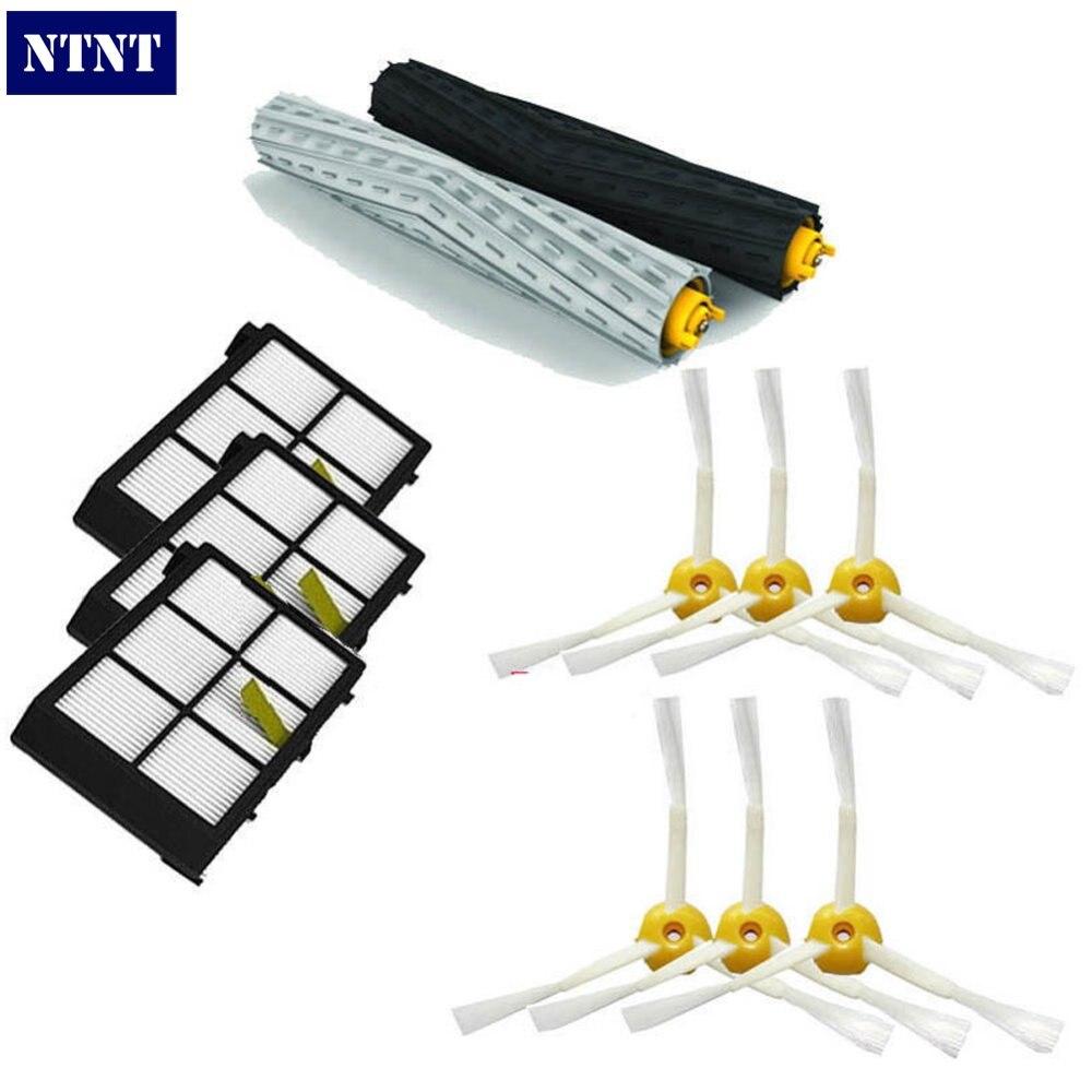 NTNT Free Post New Tangle-Free Debris Brush + Filters For iRobot Roomba Vacuum 800 Series 870 880