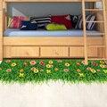 [SHIJUEHEZI verde césped 3D piso pegatina de vinilo DIY hierba decoración del hogar para habitaciones de niños, dormitorio de bebé jardín de infantes decoración