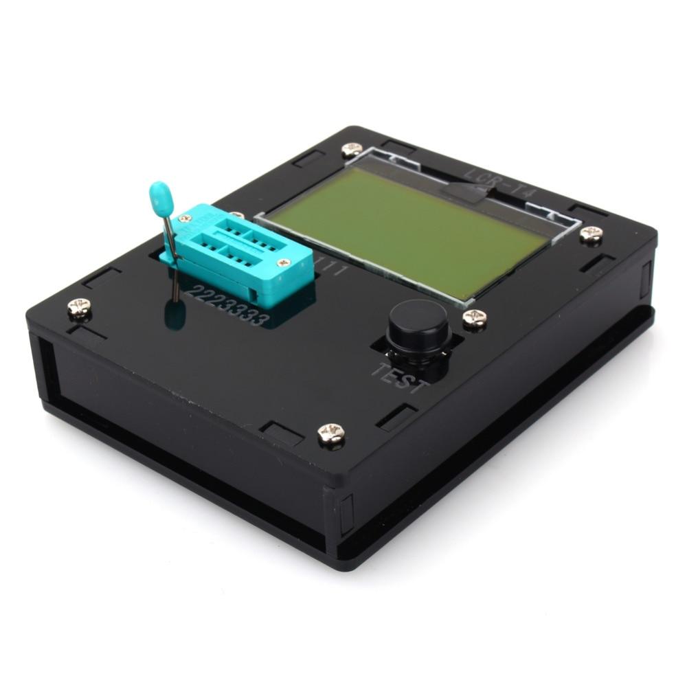 Black Color LCR-T4 ESR Meter Transistor Tester Diode Triode Capacitance SCR Inductance with LCD Backlight Wholesale  цены