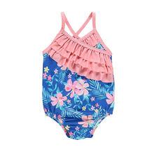 Maluch dzieci stroje kąpielowe dla dzieci dziewczyny strój kąpielowy lato strój kąpielowy kwiatowy wzburzyć strój kąpielowy kostiumy kąpielowe dla dzieci kostiumy strój kąpielowy jednoczęściowy strój kąpielowy tanie tanio Jeden sztuk Pływać Poliester Floral Toddler Kids Swimwear Pasuje prawda na wymiar weź swój normalny rozmiar hirigin