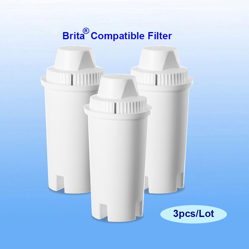 3pcs lot replacement filter cartridges for brita classic filter pitcher contains minerals. Black Bedroom Furniture Sets. Home Design Ideas