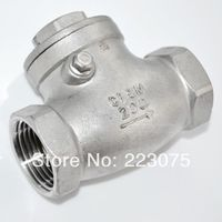 Free Shipping New 1 1 4 Stainless Steel Swing Check Valve WOG 200 PSI PN16 SS316