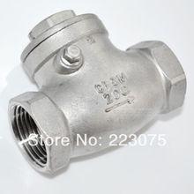 Бесплатная доставка новый 1 — 1/4 » из нержавеющей стали обратный клапан 1000wog 200 фунтов на квадратный дюйм ру16 SS316 CF8M SUS316