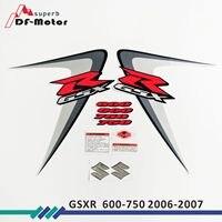 GSXR 600 750 Full Decals Stickers Graphics Kit Set Motorcycle Whole Vehicle 3M Decals Stickers for SUZUKI GSX R K6 2006 2007