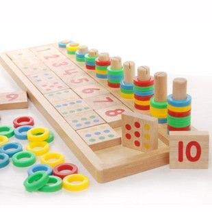 Игрушек! Новое поступление, горячая Распродажа, обучающая деревянная игрушка Монтессори, красочная Радужная математическая доска, игрушка